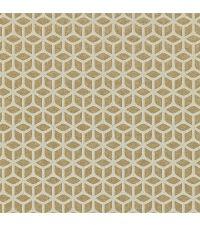 Vliestapete mit geometrischer Musterung, Tapete Trellis mit kleinen Perlen, gold