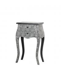 kleiner hoher orientalischer Beistelltisch oder Nachttisch