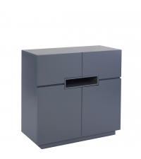hohes modernes Sideboard matt graphitgrau