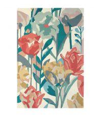 Harlequin Teppich Verdaccio Coral Wollteppich mit Blumenmuster 140 x 200 cm 170 x 240 cm oder 200 x 280 cm