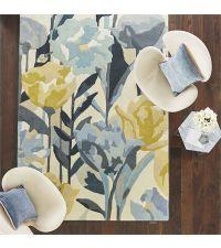 Harlequin Teppich Verdaccio Pewter Wollteppich mit Blumenmuster 140 x 200 cm 170 x 240 cm oder 200 x 280 cm