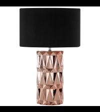 Tischleuchte mit modernem, geometrischem Fuß, kupfer