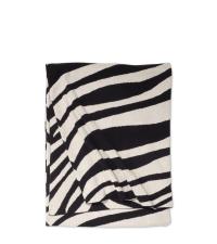 schwarz-weiße Babydecke aus Baumwolle mit Zebra-Muster