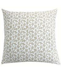 Kissenhülle mit floralem Muster in sanftem Beige & Weiß