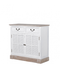 kleines Sideboard im Landhausstil Shabby-Style weiß mit zwei Laden