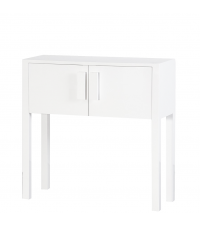 moderne kleine Konsole High Gloss mit zwei Türen Hochglanz weiß
