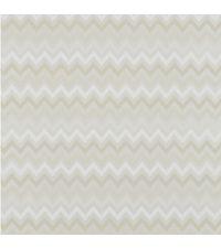 schimmernde Tapete mit kleinem Zick-Zack Muster, Hintergrund metallisch silber mit Farbverlauf weiß bis beige