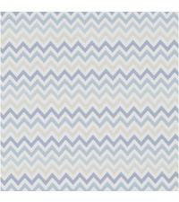 Tapete mit kleinem Zick-Zack Muster, Hintergrund weiß mit Farbverlauf blau bis hellgrau