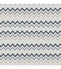 Tapete mit kleinem Zick-Zack Muster, Hintergrund weiß mit Farbverlauf anthrazit bis hellgrau