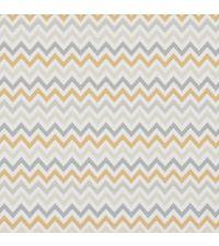 Tapete mit kleinem Zick-Zack Muster, Hintergrund weiß mit Farben orange und grautönen
