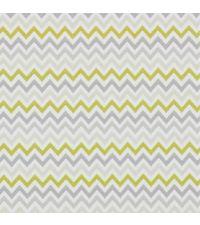 Tapete mit kleinem Zick-Zack Muster, Hintergrund weiß mit Farben olivgrün und grautönen