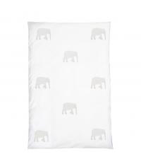 Bettbezug mit weißem Elefantenmuster