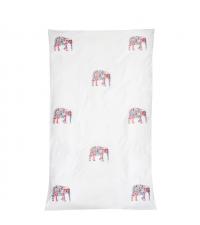 Bettbezug mit buntem Elefantenmuster