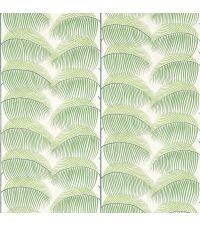 Tapete mit Blattmuster, Hintergrund cremefarben mit grünen Blättern
