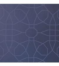 Tapete mit Solitaire-Muster, Hintergrund mitternachtsblau und silber Glitzer