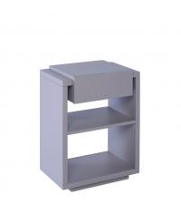 moderner Beistelltisch oder Nachttisch Zürich matt grau mit einer Lade