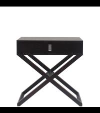 eleganter Nachttisch oder Beistelltisch mit gekreuzten Füßen, Wenge