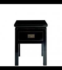 Nachtkästchen Pure Asia schwarz mit einer Schublade