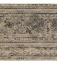 Tapete mit orientalischem Muster, Hintergrund onyxfarben mit schwarzem Muster