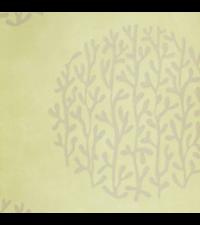 orientalische Vliestapete Focus mit runder Ast-Musterung, lime