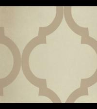 elegante, schimmernde Vliestapete Embrace mit großem Trellis-Muster, taupe