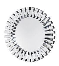 runder Wandspiegel mit erhabenen Spiegelelementen