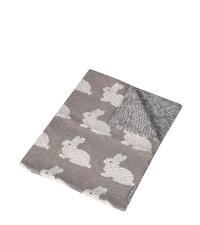 Wendedecke aus Baumwolle mit Hasenmuster für Kinder