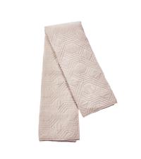 riesengroße Tagesdecke aus Samt mit geometrischer Steppung, puder