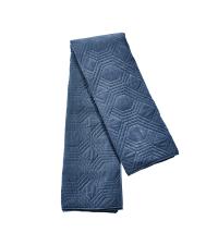 riesengroße Tagesdecke aus Samt mit geometrischer Steppung, dunkelblau