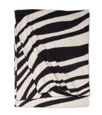 schwarz-weiße Decke aus Baumwolle mit Zebra-Muster