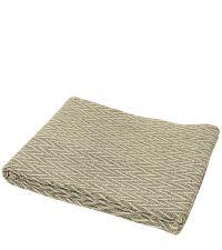 naturfarbene Baumwolldecke mit Zickzack-Muster