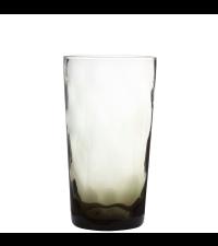 hohes, braun schimmerndes Trinkglas mit Farbverlauf