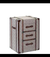 kleine Kofferkommode, Nachtkästchen im Koffer-Style mit Stoffbezug
