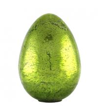 riesiges Deko Osterei aus Glas in Antik-Optik zum Aufstellen, schimmernd grün