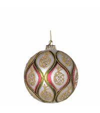 Weihnachtskugel mit buntem Ananas-Muster