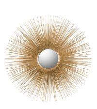 runder Wandspiegel mit stacheligem Rahmen in Gold