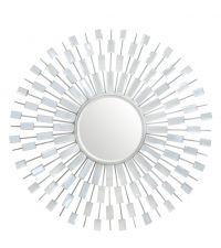 edler Wandspiegel gerahmt mit Spiegelplättchen