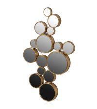 Wandspiegel-Kombination bestehend aus 15 kleinen Spiegeln