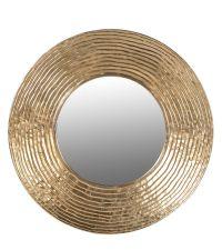 großer runder Wandspiegel mit Teller-Rahmen gold