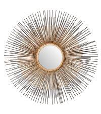 bronzefarbener Sonnenspiegel mit zarten Strahlen aus Metall
