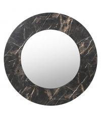 runder Wandspiegel mit Rahmen in Marmor-Optik