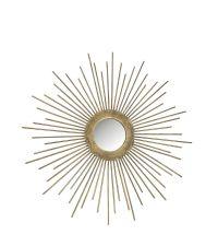 kleiner Spiegel in Sonnenform, antikgold