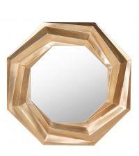Wandspiegel Oktagon mit erhabenem, gekantetem Rahmen mit 3D-Effekt