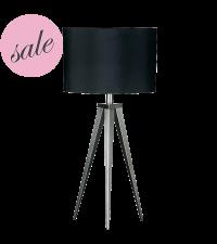 SALE moderne & elegante Tischleuchte mit zartem Stativfuß aus Metall Lampenschirm schwarz -30%