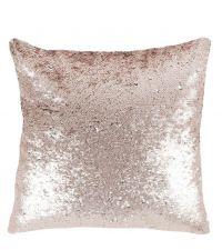 Dekokissen 'Disco Fever' mit metallischen Pailletten, rosé & silber