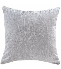 "Kissenhülle aus silber schimmerndem Samt im Marmor Stil ""Marble Dreams"", grau-silber"