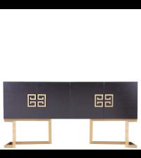 hochwertiges Sideboard mit Eichenfurnier und Füßen aus Messing