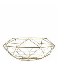 geometrisch geformter Obstkorb, gold
