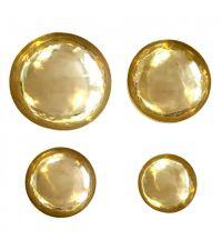 4er-Set goldene Deko-Schalen in unterschiedlichen Größen aus Messing in Antik-Optik