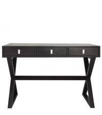 eleganter Schreibtisch mit gekreuzten Füßen, Wenge